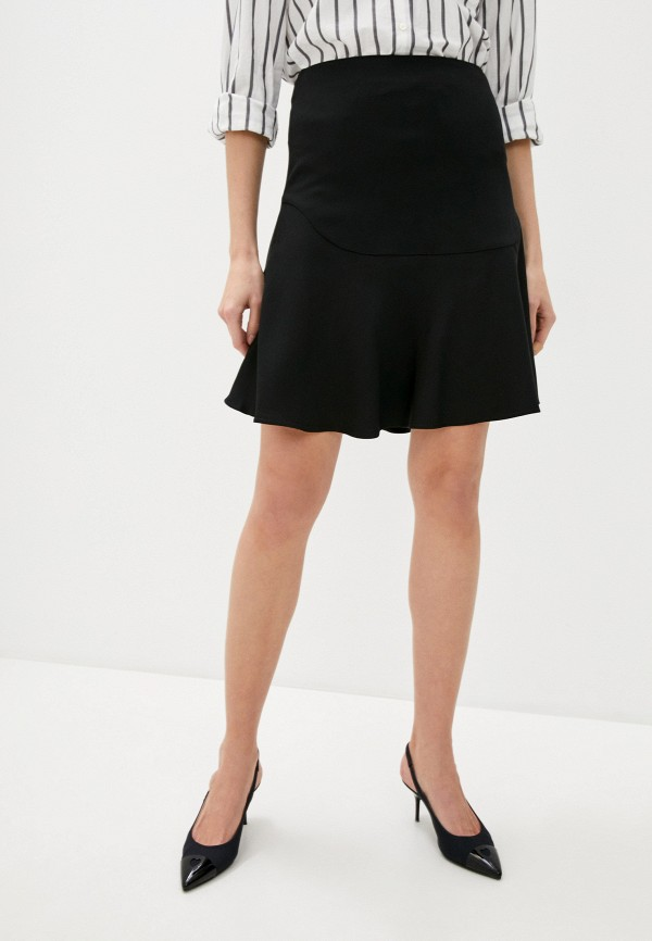 женская прямые юбка by malene birger, черная