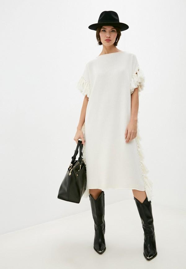 женское платье by malene birger, белое