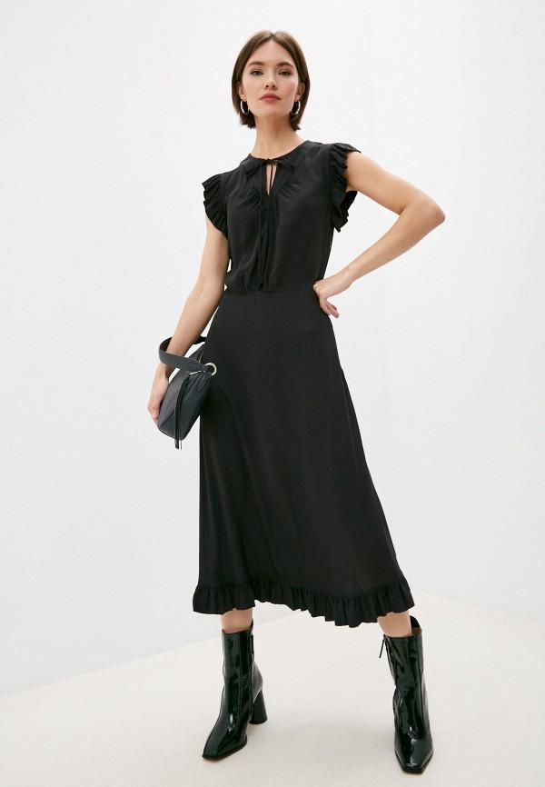 женское повседневные платье by malene birger, черное