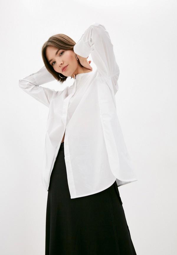 женская рубашка by malene birger, белая
