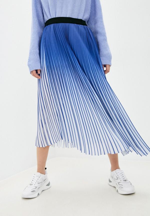 женская юбка by malene birger, синяя