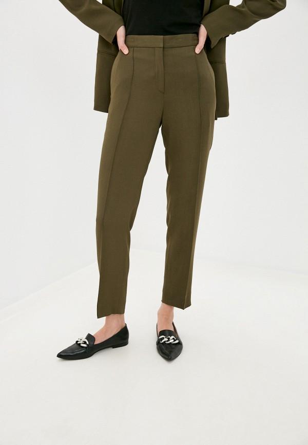 женские повседневные брюки by malene birger, хаки