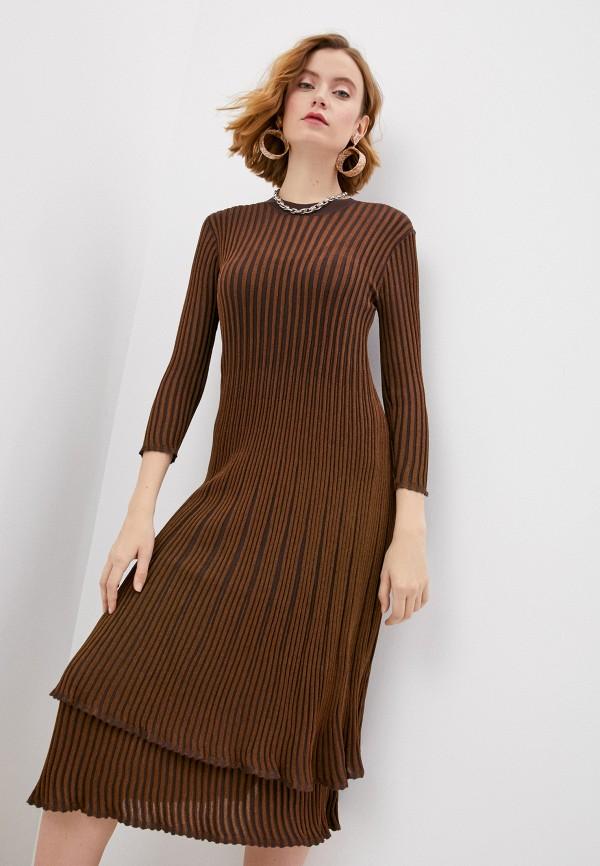 женское платье by malene birger, золотое