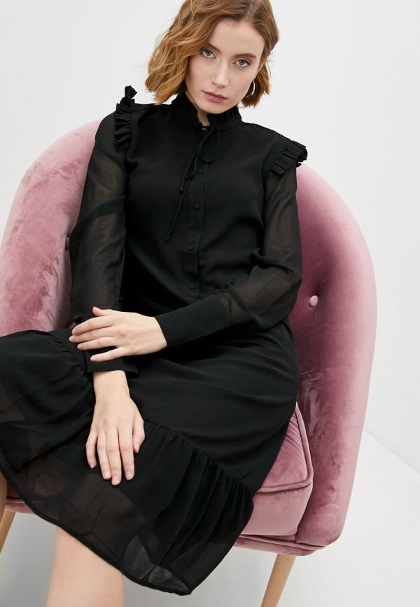 женское вечерние платье by malene birger, черное