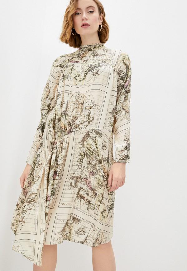 женское повседневные платье by malene birger, бежевое