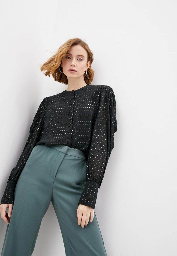 женская блузка by malene birger, хаки