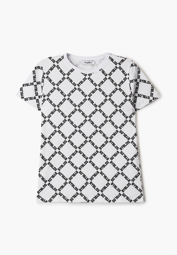 футболка с коротким рукавом byblos для мальчика, белая