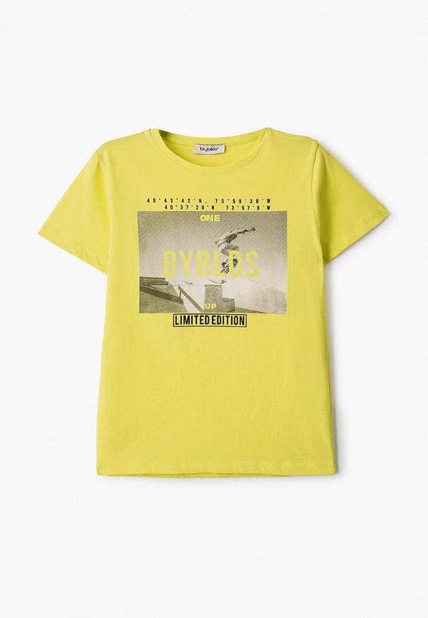 футболка с коротким рукавом byblos для мальчика, зеленая