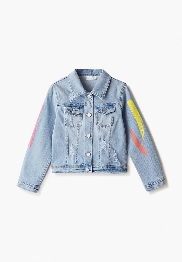 джинсовые куртка byblos для девочки, голубая