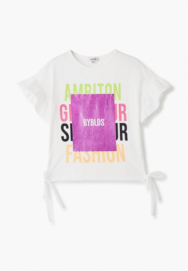 футболка с коротким рукавом byblos для девочки, белая