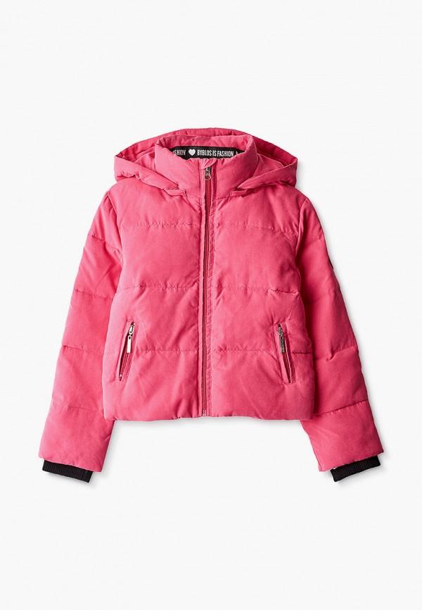 куртка byblos для девочки, розовая