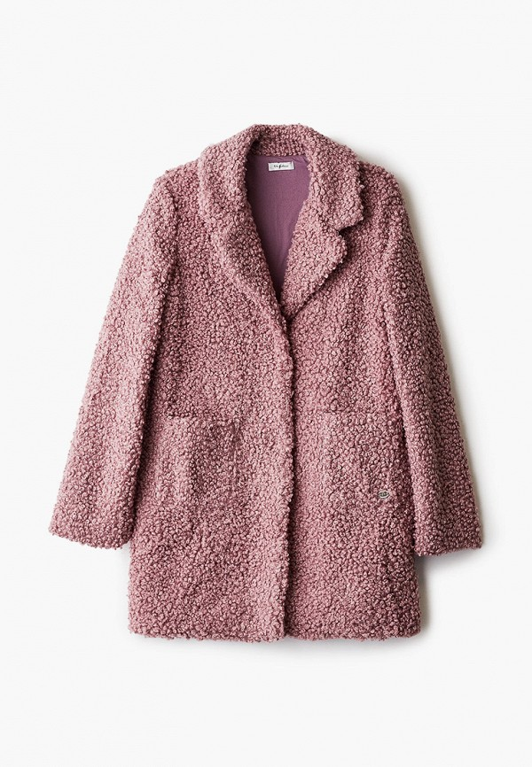 шуба byblos для девочки, розовая