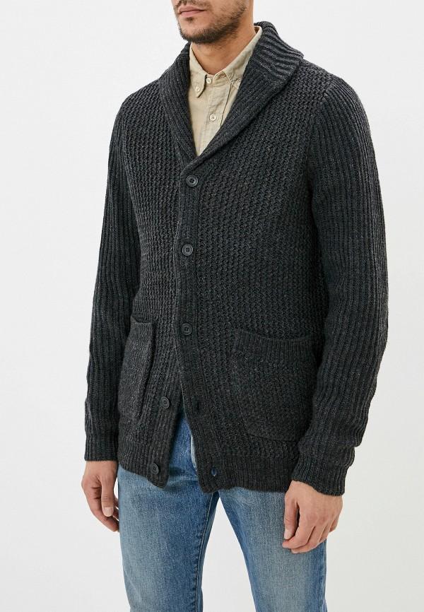 мужской кардиган casual friday by blend, серый