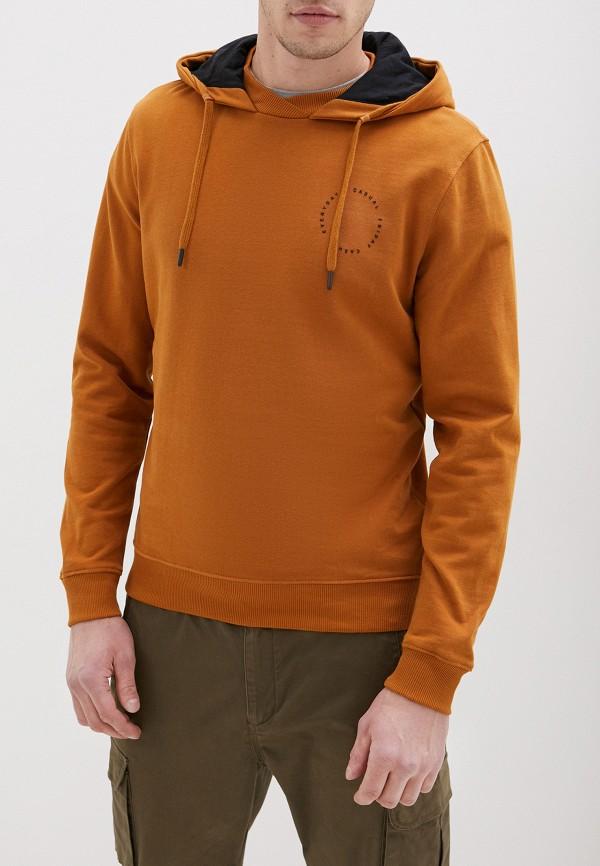 мужские худи casual friday by blend, коричневые