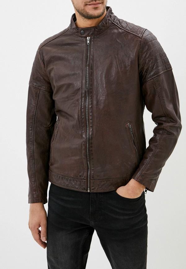 мужская куртка casual friday by blend, коричневая