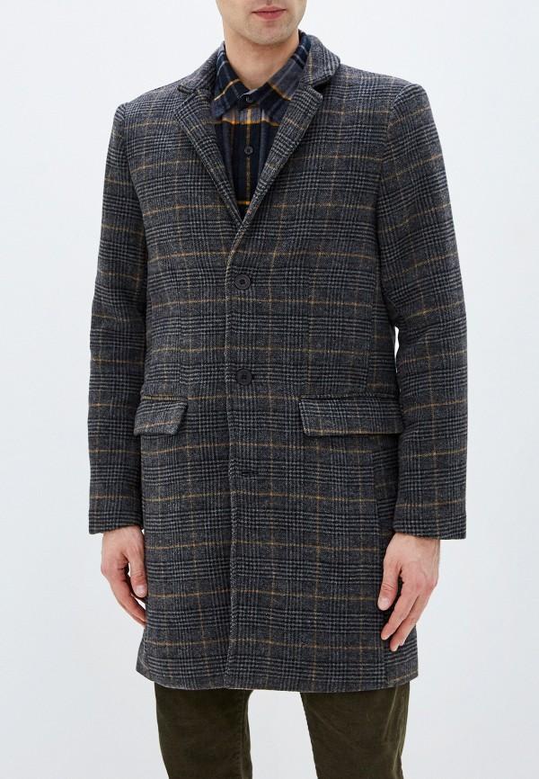 мужское пальто casual friday by blend, синее