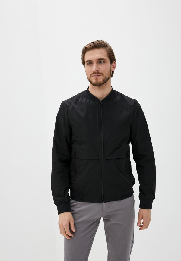 мужская куртка casual friday by blend, черная
