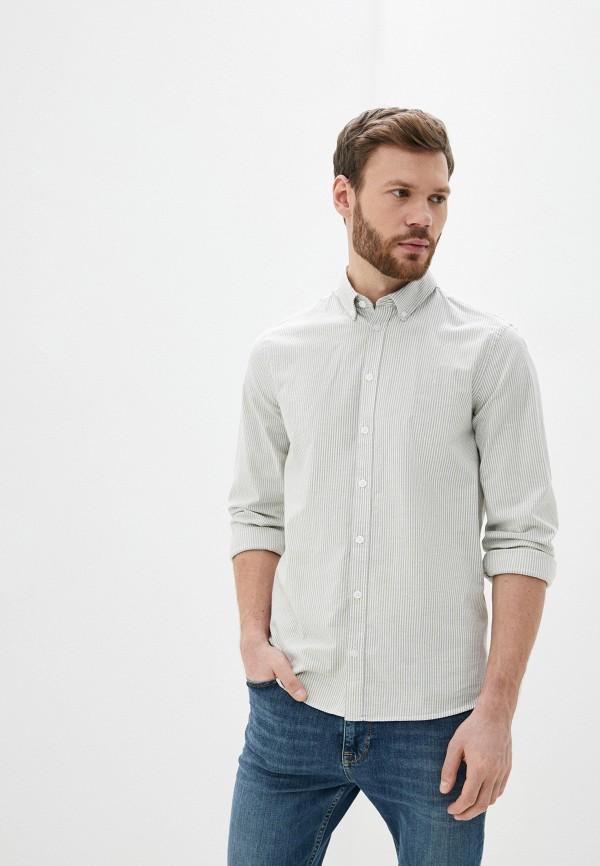 мужская рубашка с длинным рукавом casual friday by blend, серая
