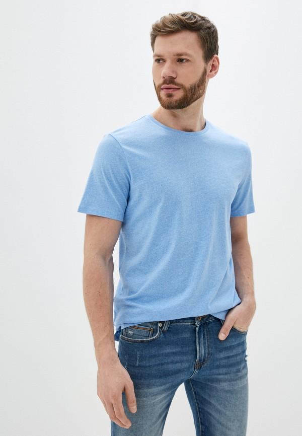 мужская футболка с коротким рукавом casual friday by blend, голубая