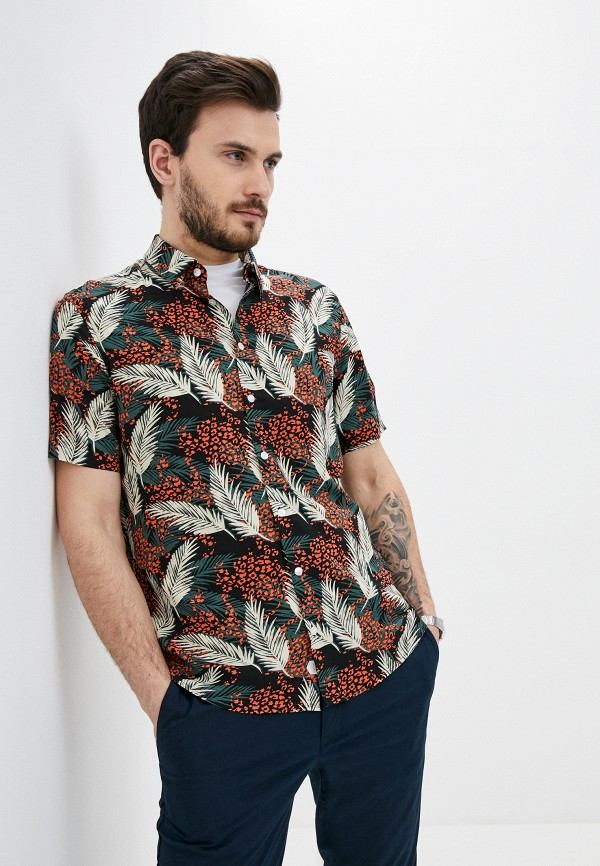 мужская рубашка с коротким рукавом casual friday by blend, разноцветная