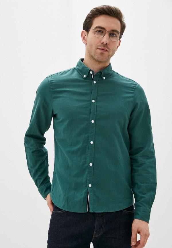 мужская рубашка с длинным рукавом casual friday by blend, зеленая