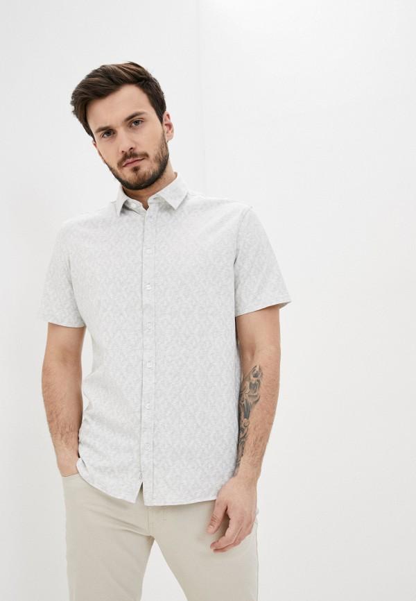 мужская рубашка с коротким рукавом casual friday by blend, серая