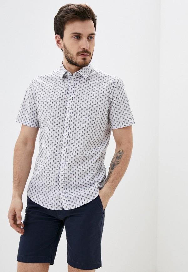 мужская рубашка с коротким рукавом casual friday by blend, белая