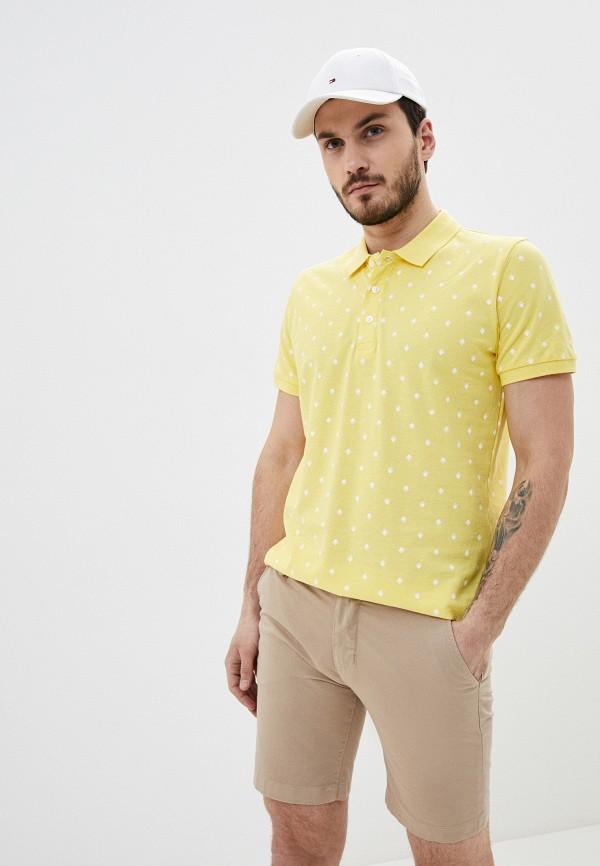 мужское поло casual friday by blend, желтое
