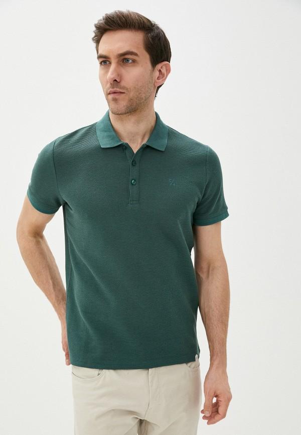мужское поло casual friday by blend, зеленое