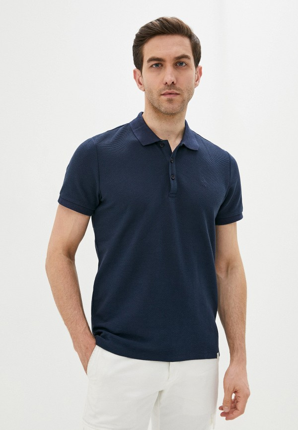 мужское поло casual friday by blend, синее