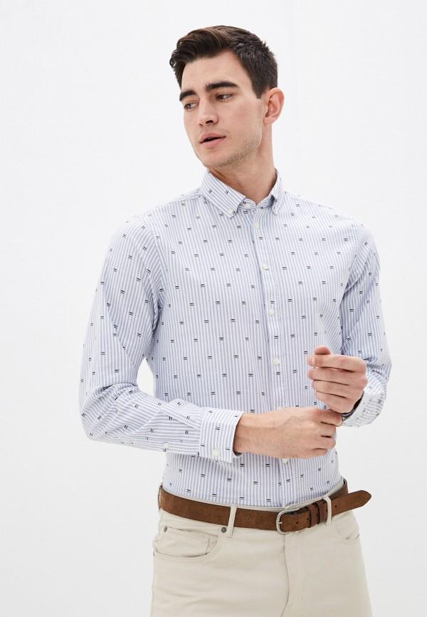 мужская рубашка с длинным рукавом casual friday by blend, голубая