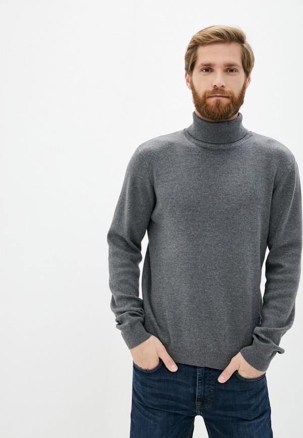 мужская водолазка casual friday by blend, серая