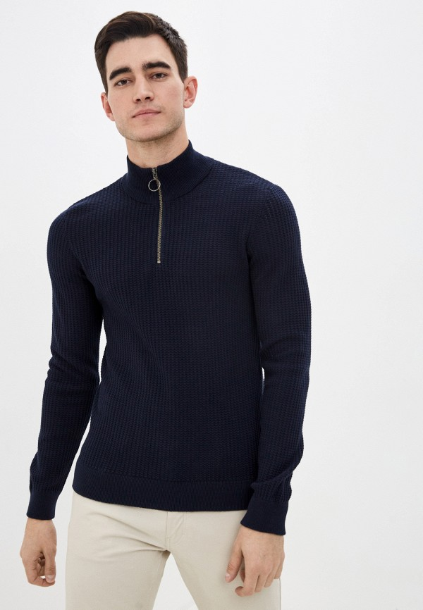 мужской джемпер casual friday by blend, синий