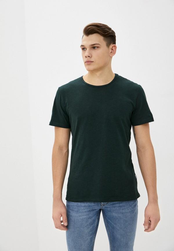 мужская футболка с коротким рукавом casual friday by blend, зеленая