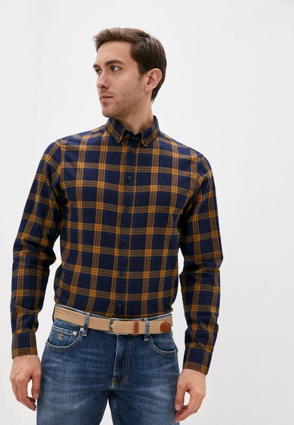 мужская рубашка с длинным рукавом casual friday by blend, синяя