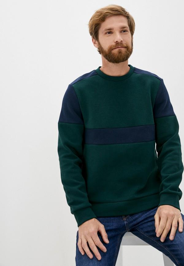 мужской свитшот casual friday by blend, зеленый