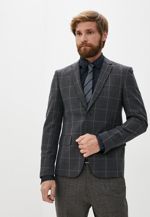 мужской пиджак casual friday by blend, серый