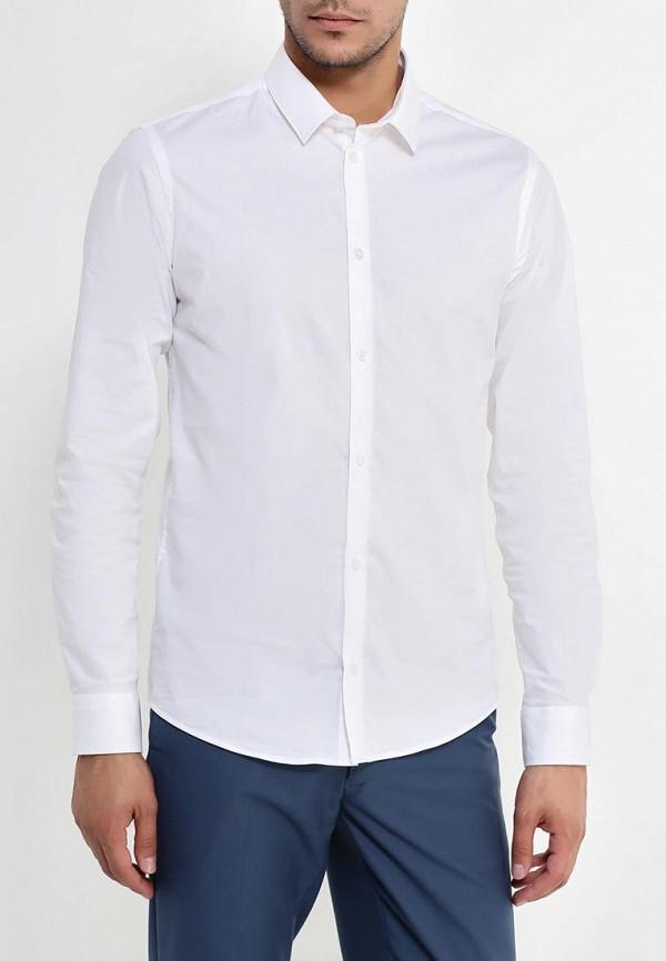мужская рубашка с длинным рукавом casual friday by blend, белая