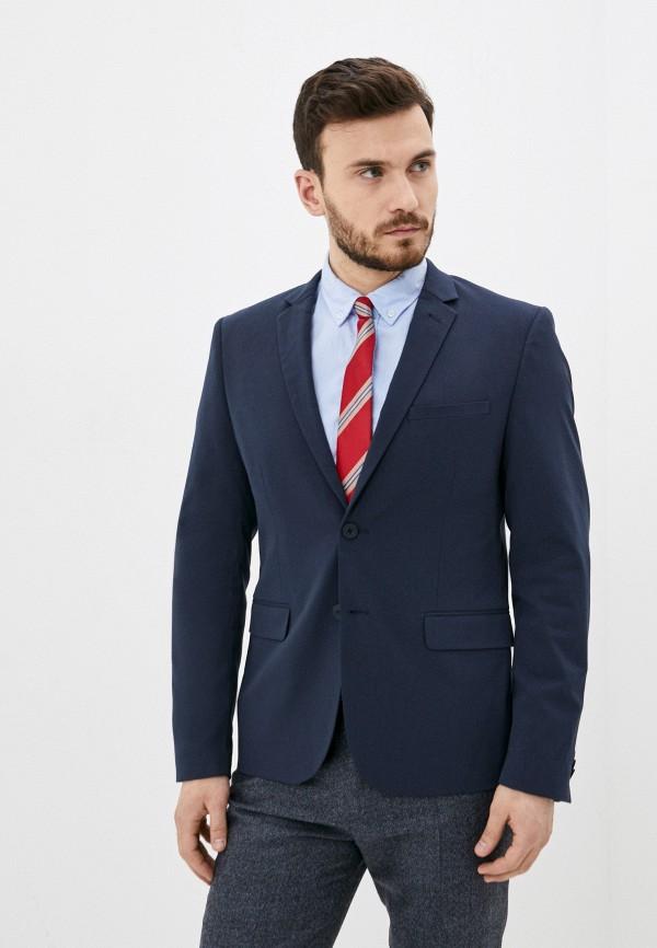мужской пиджак casual friday by blend, синий