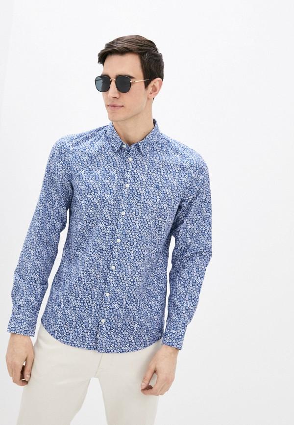 мужская рубашка casual friday by blend, синяя