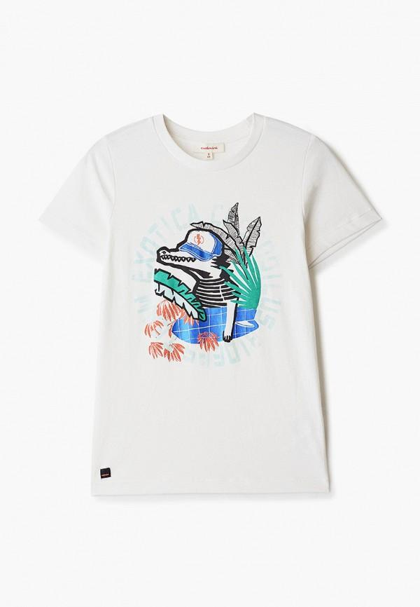 футболка с коротким рукавом catimini для мальчика, белая