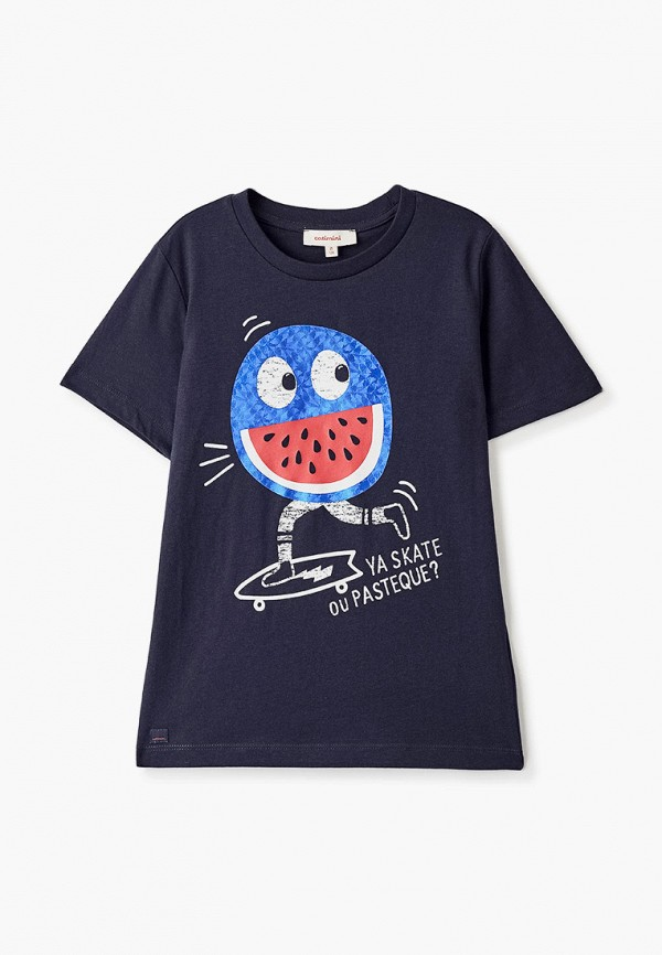 футболка с коротким рукавом catimini для мальчика, синяя
