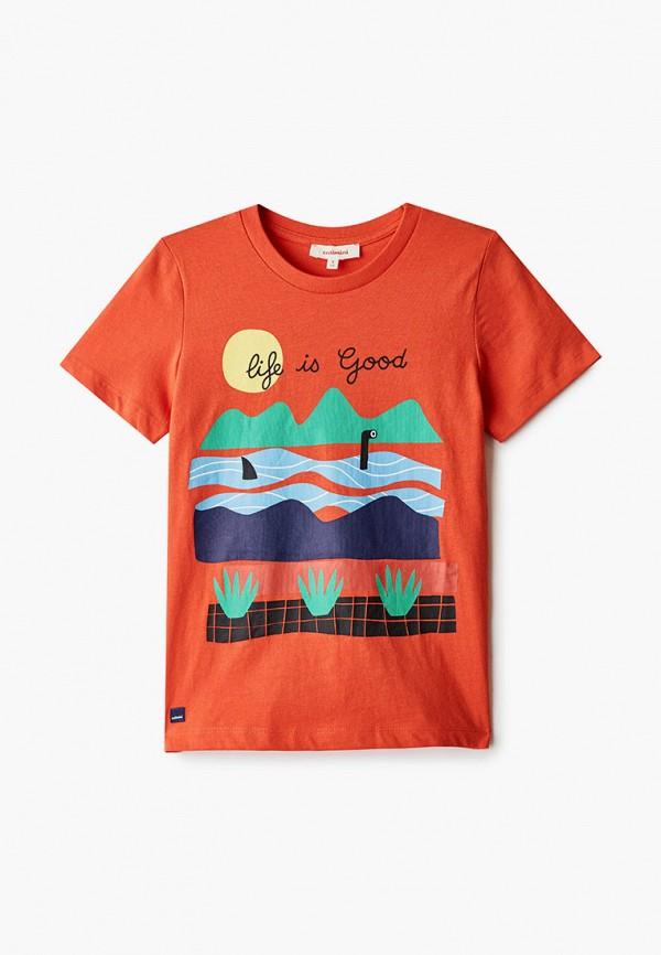 футболка с коротким рукавом catimini для мальчика, красная