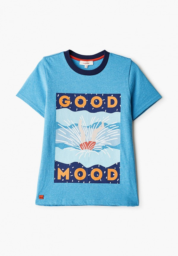 футболка с коротким рукавом catimini для мальчика, голубая