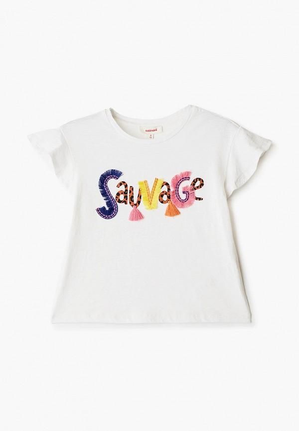 футболка с коротким рукавом catimini для девочки, белая