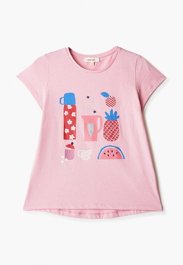 футболка с коротким рукавом catimini для девочки, розовая