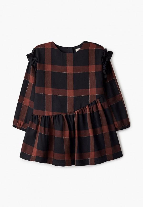 повседневные платье catimini для девочки, коричневое