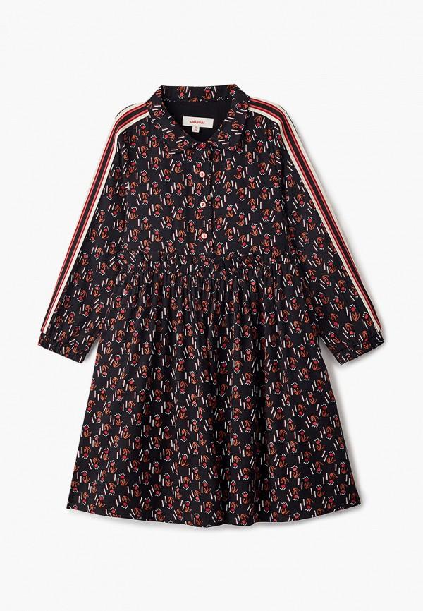 повседневные платье catimini для девочки, черное