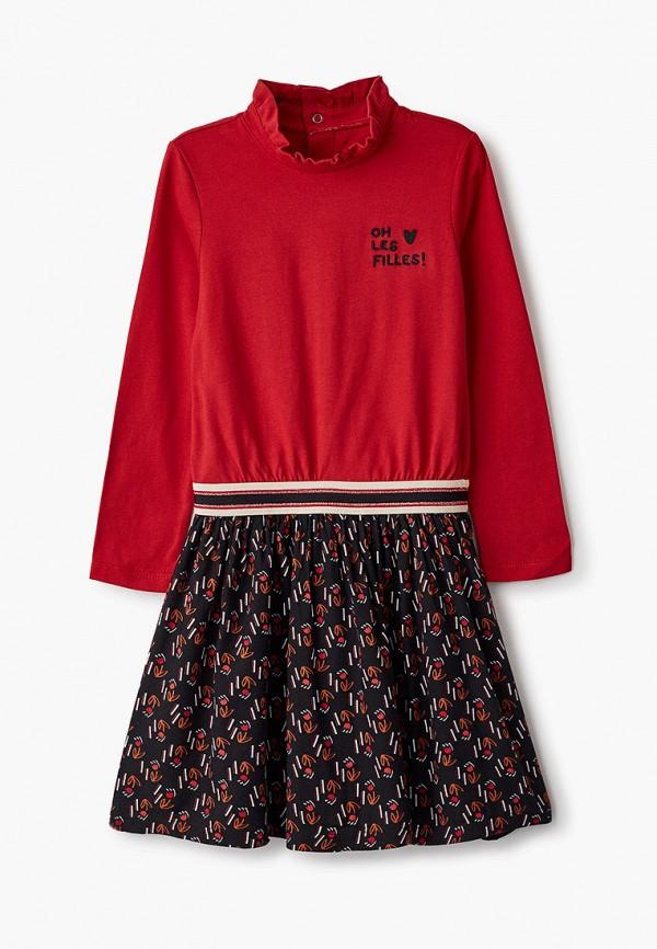 повседневные платье catimini для девочки, красное