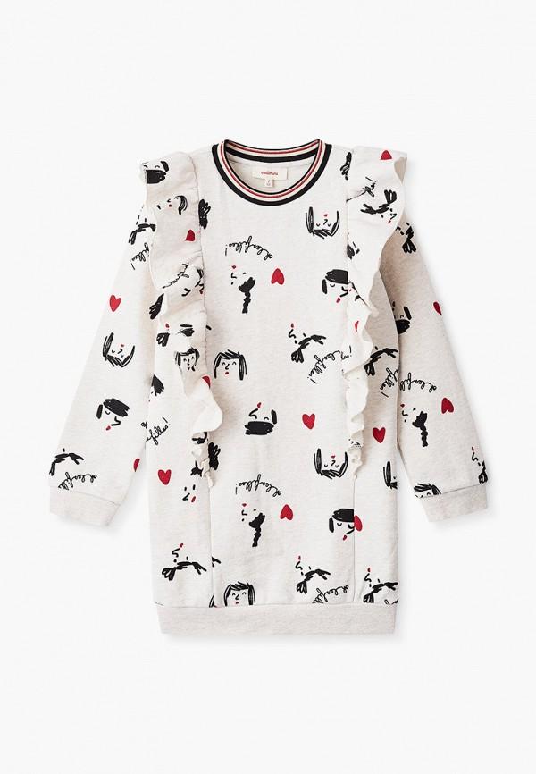 повседневные платье catimini для девочки, бежевое